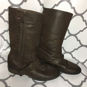 rampage girls Kelsey brown boots size 4